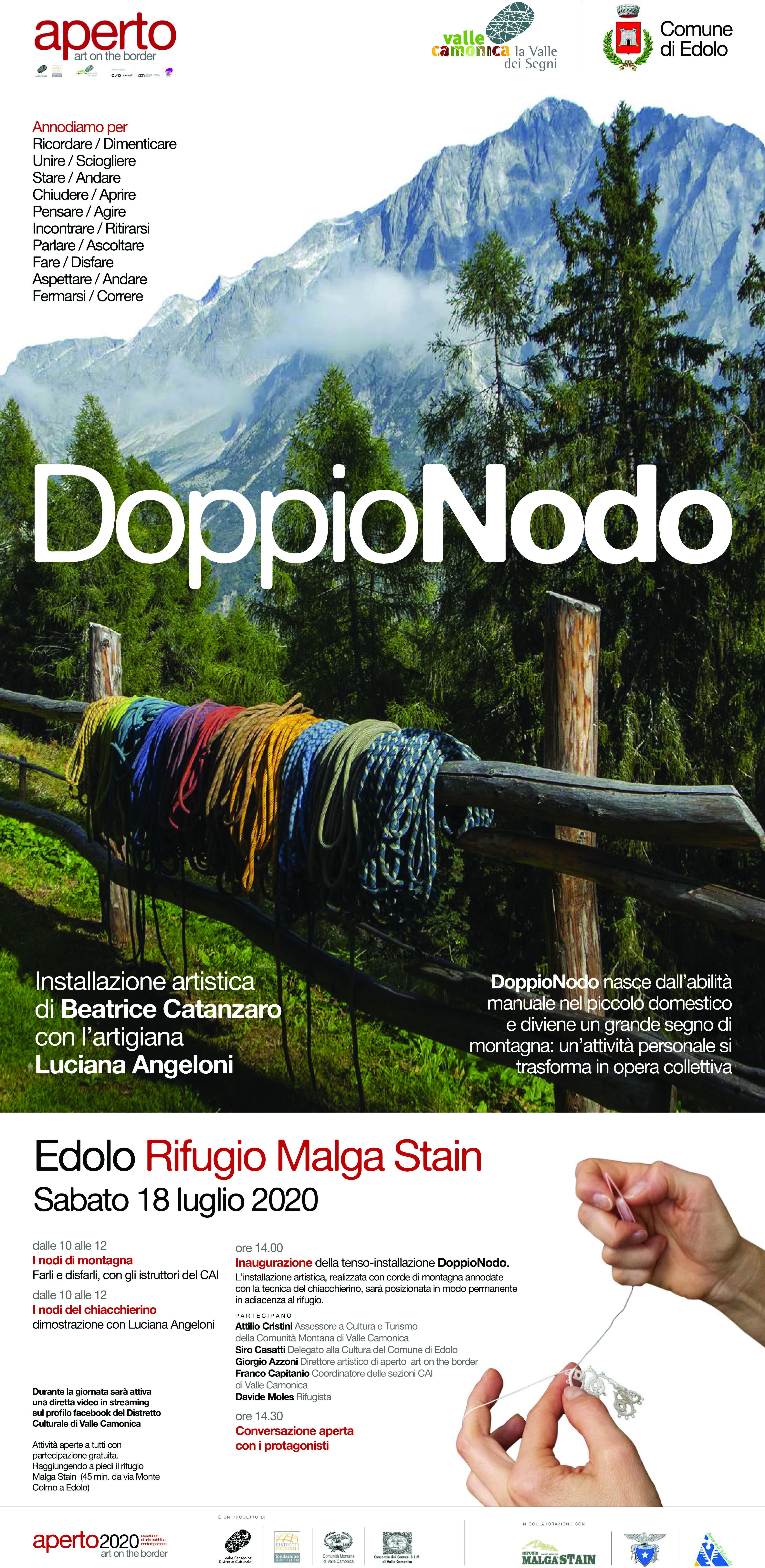 locandina doppionodo Beatrice Catanzaro, aperto 2020 valle camonica