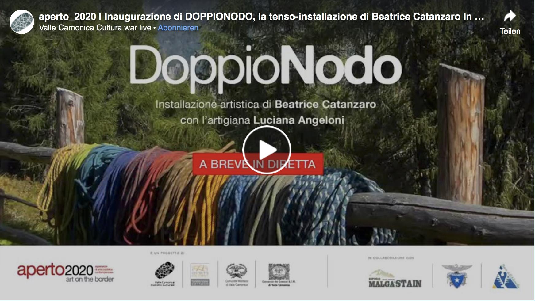 inaugurazione doppio nodo Beatrice Catanzaro